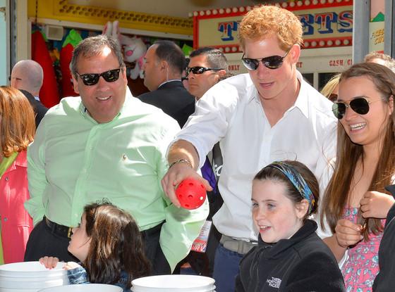 Prince Harry, Governor Chris Christie
