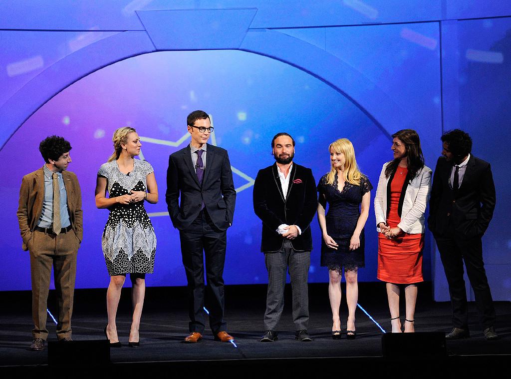 Simon Helberg, Kaley Cuoco, Jim Parsons, Johnny Galecki, Melissa Rauch, Mayim Bialik, Kunal Nayyar, The Big Bang, CBS Upfront