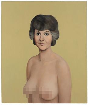 John Currin, Bea Arthur Naked Painting