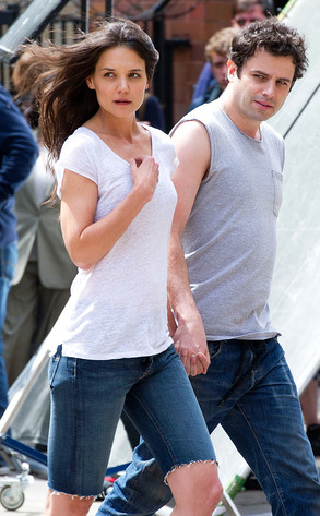 Katie Holmes Holds Hands With Costar Luke Kirbysee The On