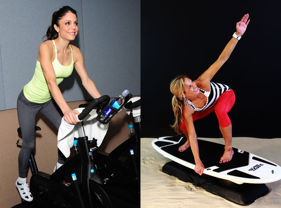 Celebrity Workouts, Flywheel, Bethenny Frankel, Surfset