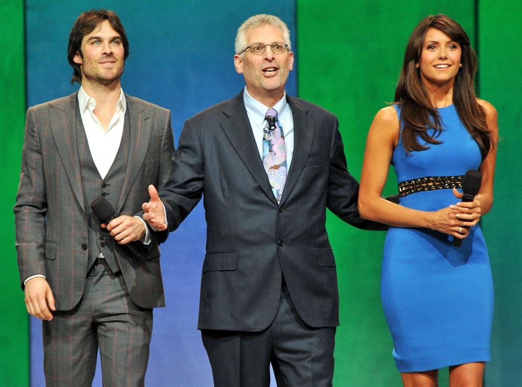 Nina Dobrev, Ian Somerhalder, Mark Pedowitz, CW Upfronts