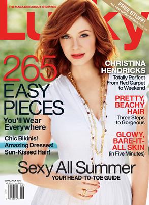 Lucky Magazine, Christina Hendricks