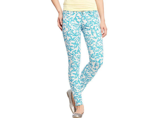Old Navy The Rockstar Printed Skinny Jeans