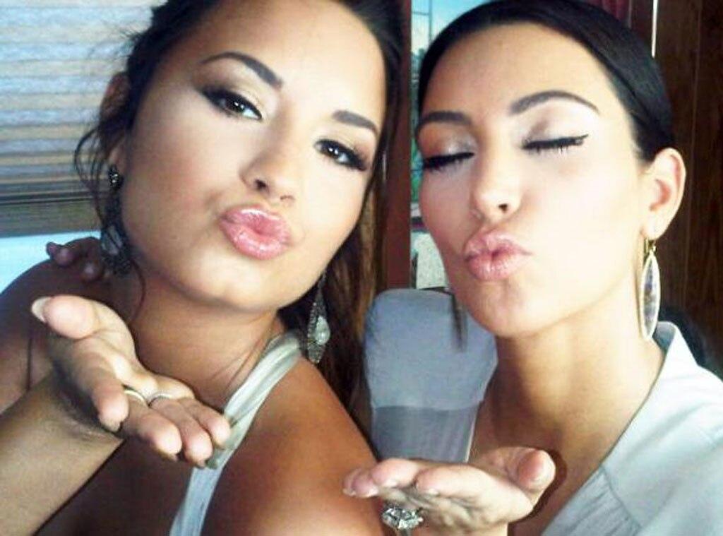 Demi Lovato, Kim Kardashian, Twit Pic