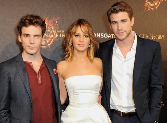 Sam Claflin, Jennifer Lawrence, Liam Hemsworth, Cannes