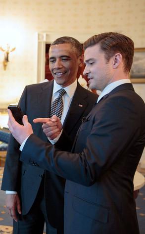 President Barack Obama, Justin Timberlake
