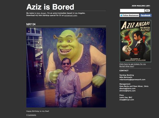 Aziz Is Bored, Tumblr