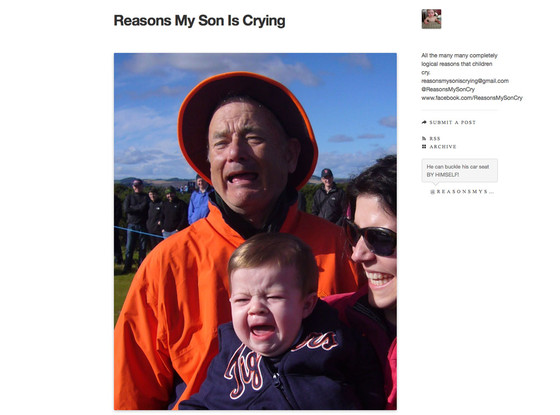 Reasons My Son Is Crying, Tumblr