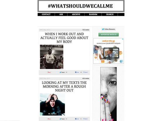 #whatshouldwecallme, Tumblr