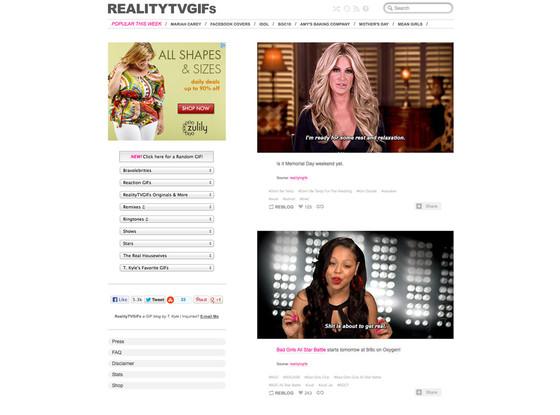 Reality TV GIFs, Tumblr