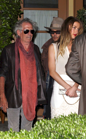 Keith Richards, Johnny Depp, Amber Heard