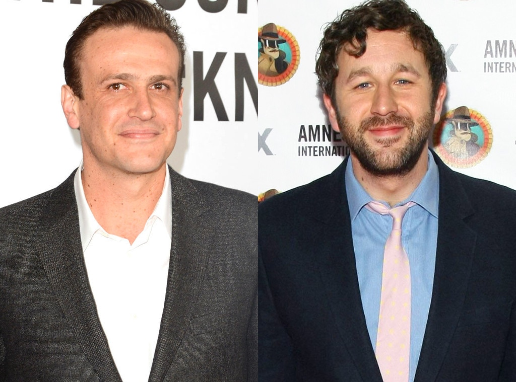 Jason Segel & Chris O'Dowd -  The  Bridesmaids  star crashed at his actor friend's home while shooting a film in Los Angeles.