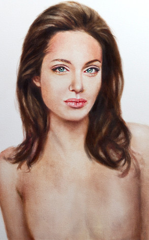 Angelina Jolie,Topless Portrait
