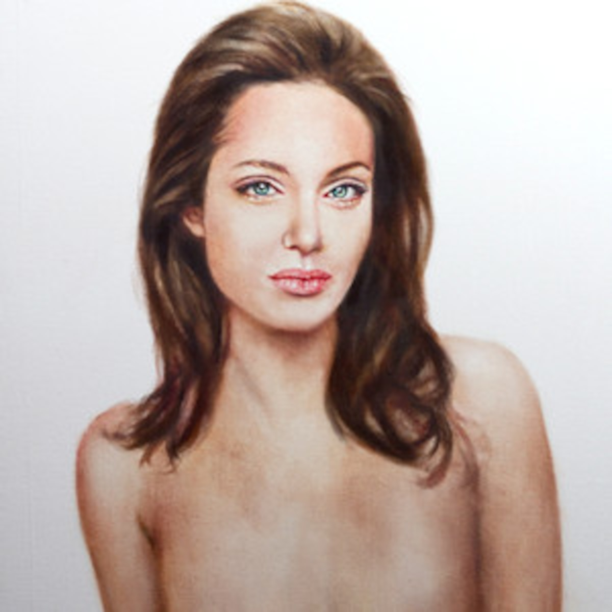 Angelina Jolie Topless Pics angelina's post-mastectomy topless portrait up for auction
