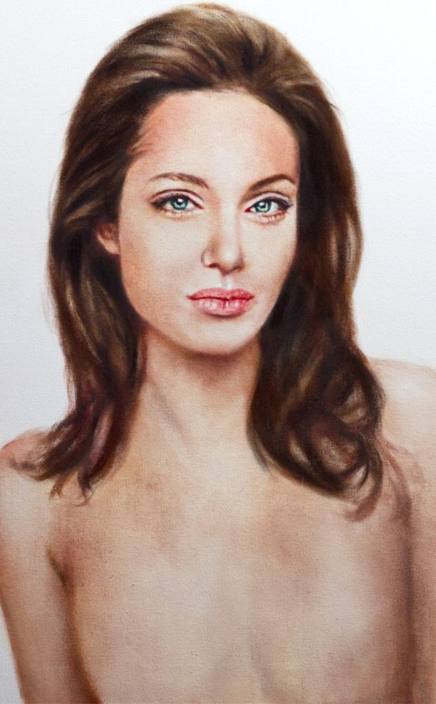 Angelina Jolie,Topless Portrait