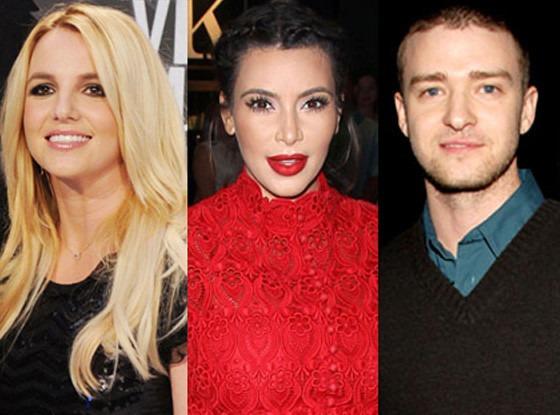 Kim Kardashian, Justin Timberlake, Britney Spears