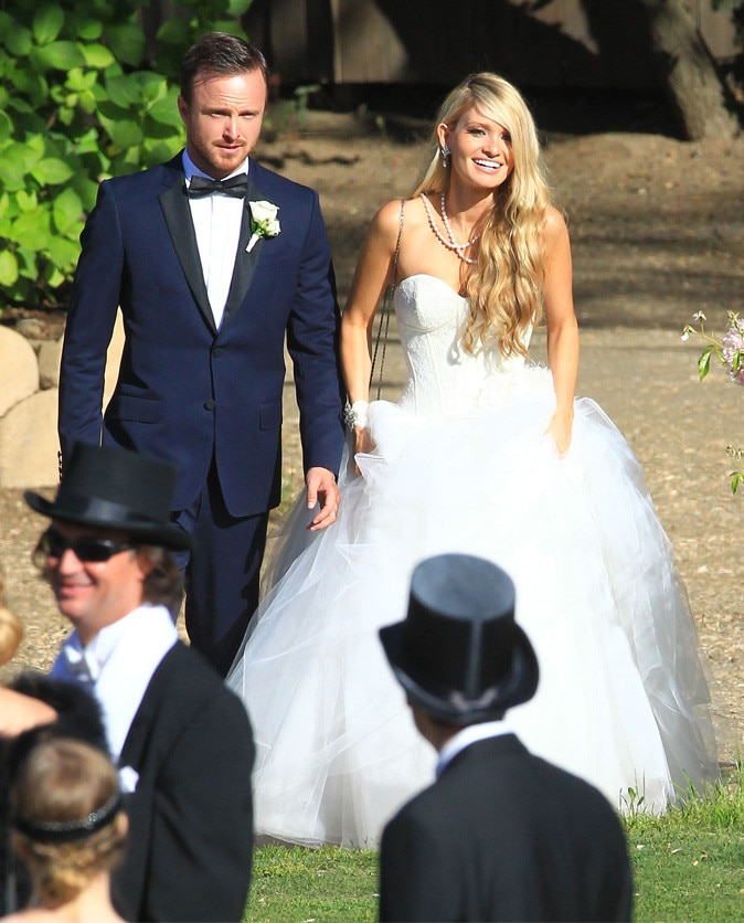Aaron Paul, Lauren Parsekian, Wedding