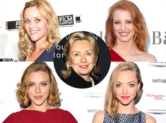Reese Witherspoon, Jessica Chastain, Scarlett Johansson, Amanda Seyfried, Hillary Clinton