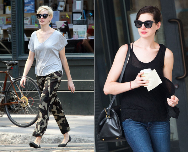 Anne Hathaway antes e depois, loira, morena
