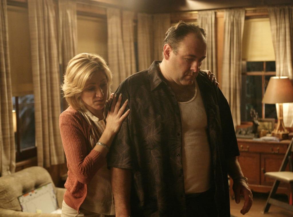 Edie Falco, James Gandolfini, The Sopranos