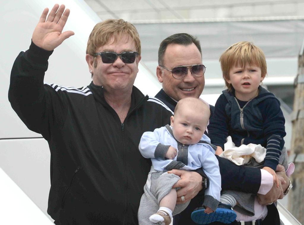 Elton John, David Furnish, Zachary, Elijah