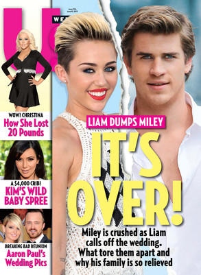 Miley Cyrus, Liam Hemsworth, Us Magazine