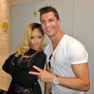 Rihanna, Cristiano Ronaldo, Facebook