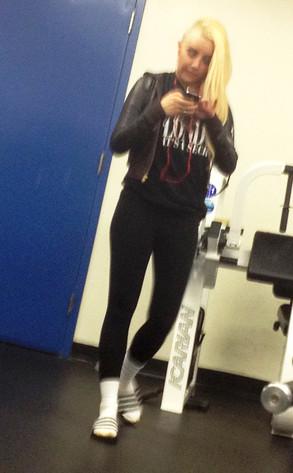 Amanda Bynes, Gym, New Hairstyle