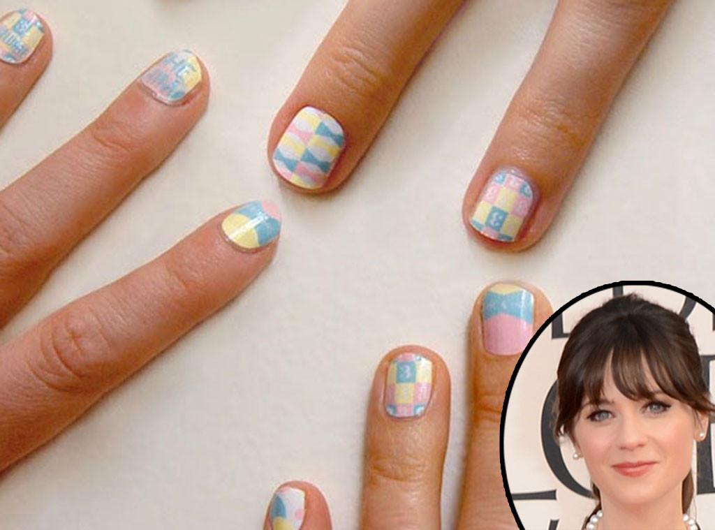 Zooey Deschanel, Nails