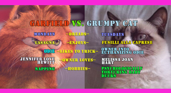 Grumpy Cat Garfield