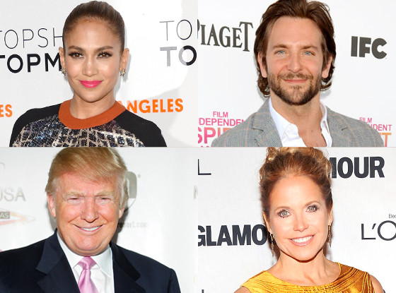 Jennifer Lopez, Bradley Cooper, Donald Trump, Katie Couric