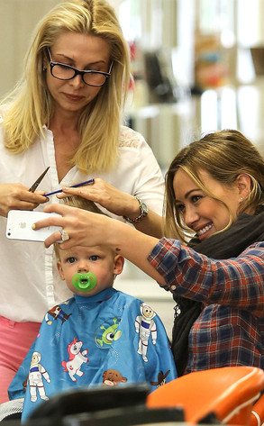 Hilary Duffs Baby Luca Gets Big Boy Haircutsee The Adorable Pic