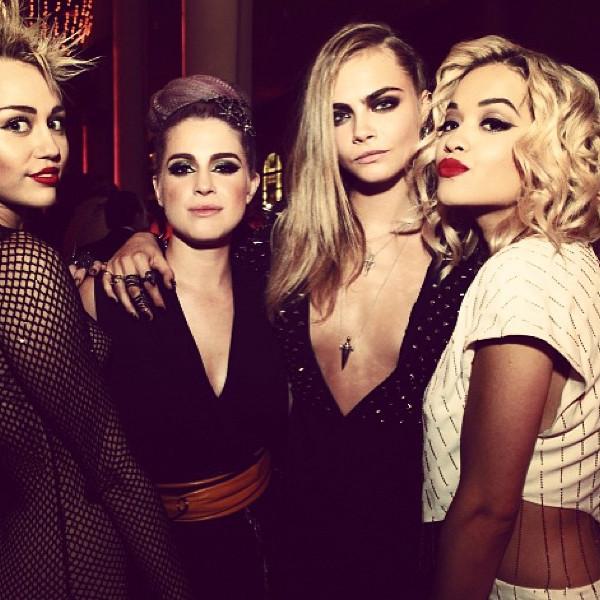 Miley Cyrus, Kelly Osbourne, Rita Ora, Cara D., Instagram