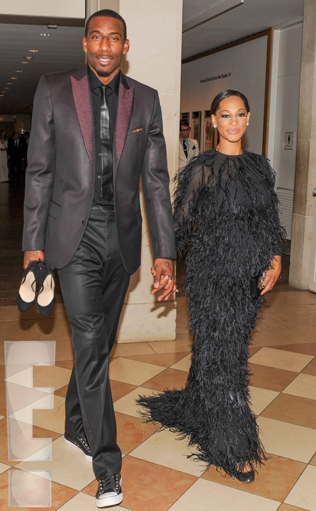 Amar'e Stoudemire, Alexis Welch, MET Gala