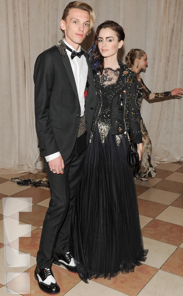 Lily Collins, Jamie Campbell Bower, MET Gala