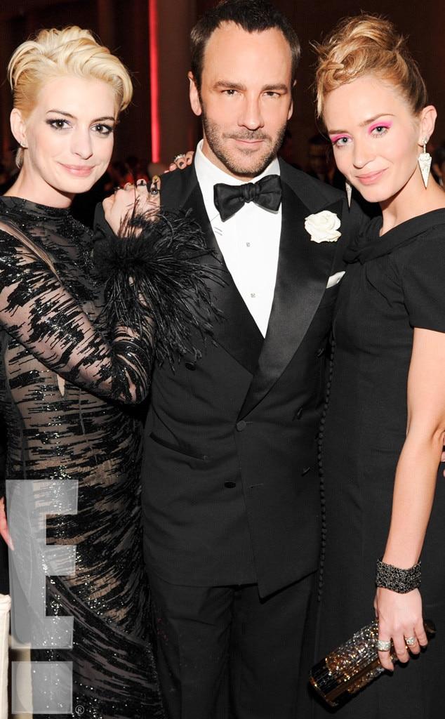Anne Hathaway, Tom Ford, Emily Blunt, Met Gala