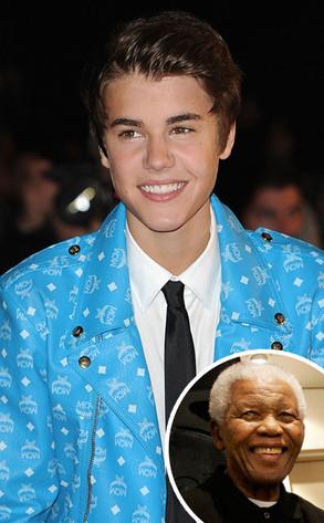 Justin Bieber, Nelson Mandela