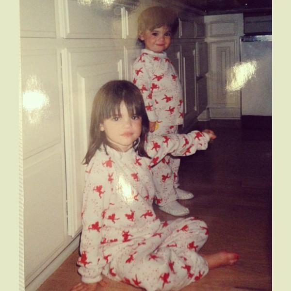 Kendall e Kylie Jenner crianças