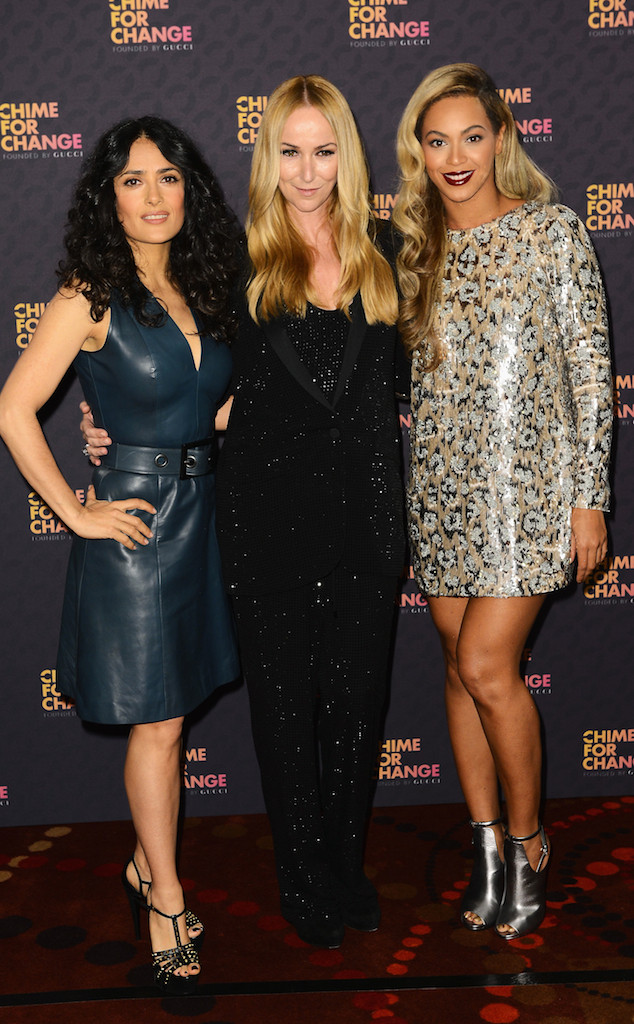 Salma Hayek Pinault, Frida Giannini, Beyonce