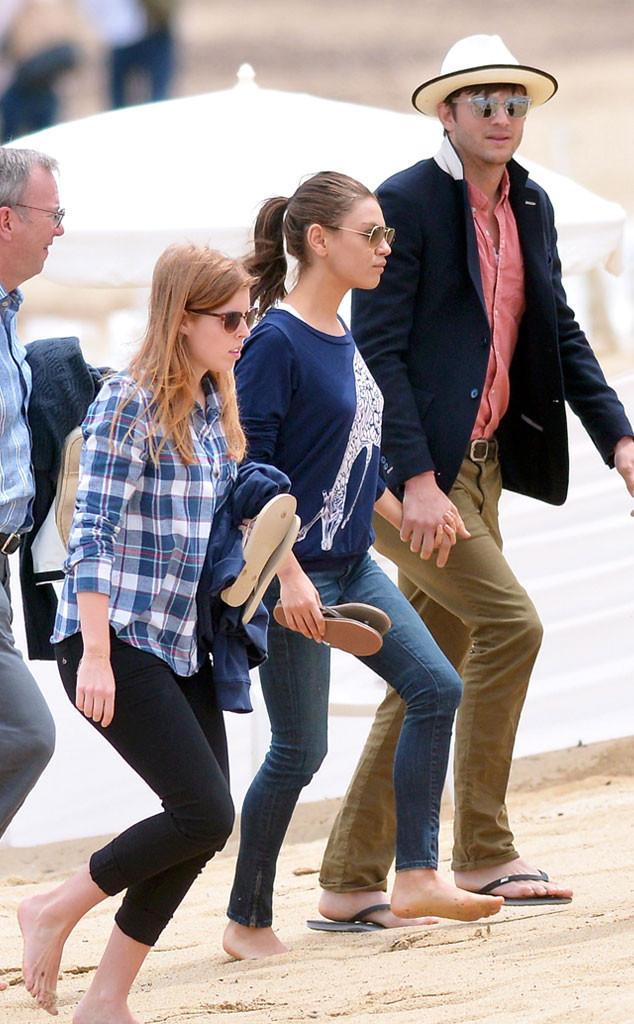 Mila Kunis, Ashton Kutcher, Princess Beatrice
