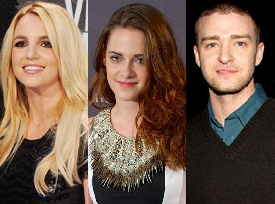 Kristen Stewart, Justin Timberlake, Britney Spears
