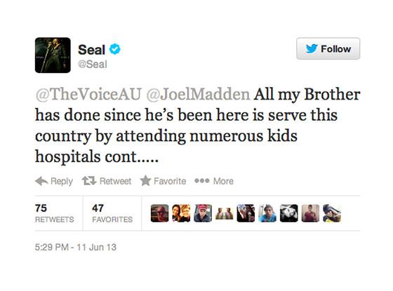 Seal, Twitter