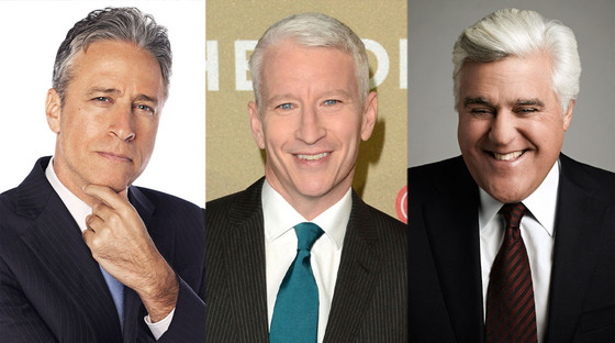 Hollywood Silver Foxes, Jon Stewart, Anderson Cooper, Jay Leno