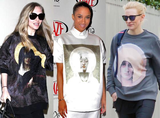 Ciara, Amanda Seyfried, Cate Blanchett, Givenchy Shirts