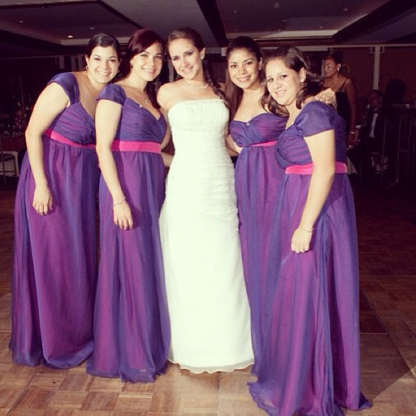 Hideous Wedding Dresses: Purple Power From Ugly Bridesmaid Dresses