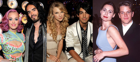 Katy Perry, Russell Brand, Taylor Swift, Joe Jonas, Minnie Driver, Matt Damon