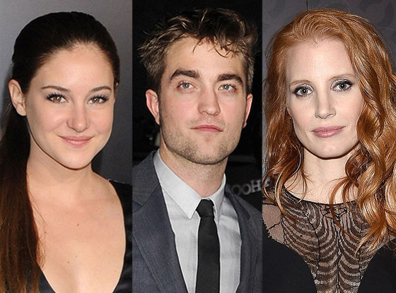 Shailene Woodley, Robert Pattinson, Jessica Chastain