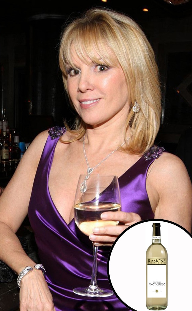 Ramona Singer - Real Housewives  episodes are known for their wine-induced antics, so who better to create a Pinot Grigio than a Bravo star from NYC?