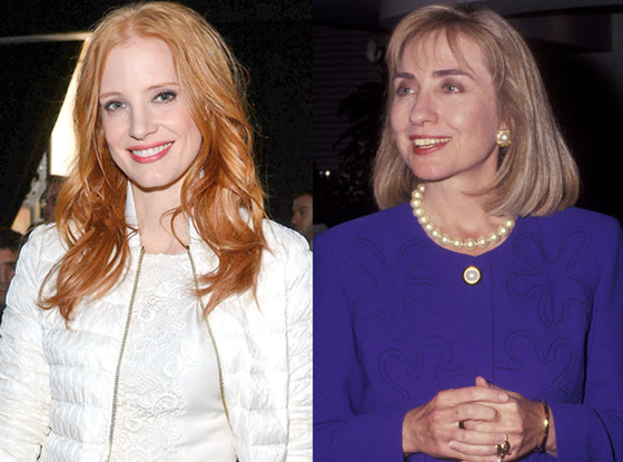 Jessica Chastain, Hillary Clinton